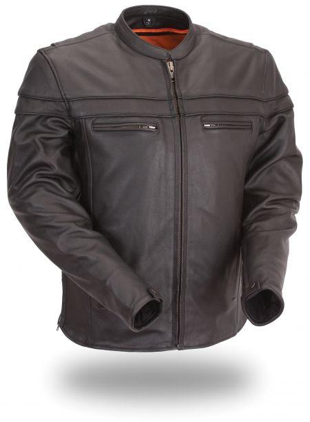 Men's Black Sporty Scooter Jacket