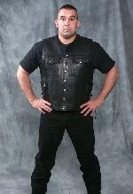 Button Leather Vest