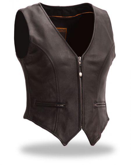 Leather Vest Ladies