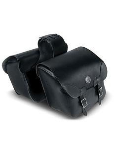 Leather Slanted Saddlebag w/Concho