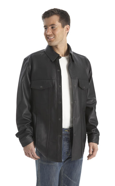 Mens Lightweight Leather Shirt