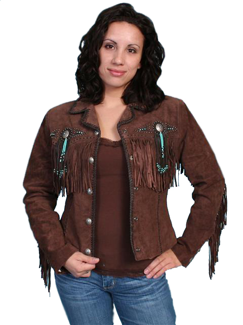 Scully Leather Coat Fawn Chocolate