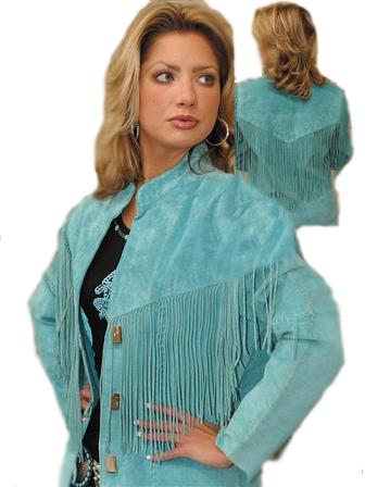 Scully Ladies Suede Fringe Jacket