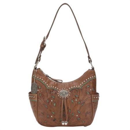 American West Lady Lace Zip-Top Hobo Bag