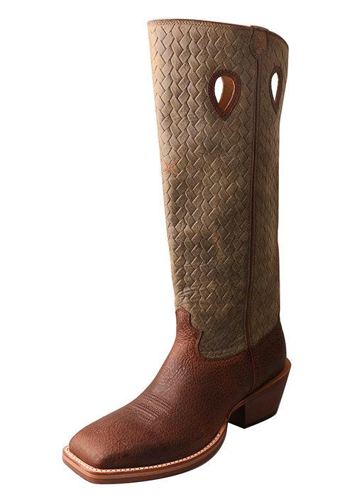 Men's Buckaroo Boot – Brown Distressed/Bomber