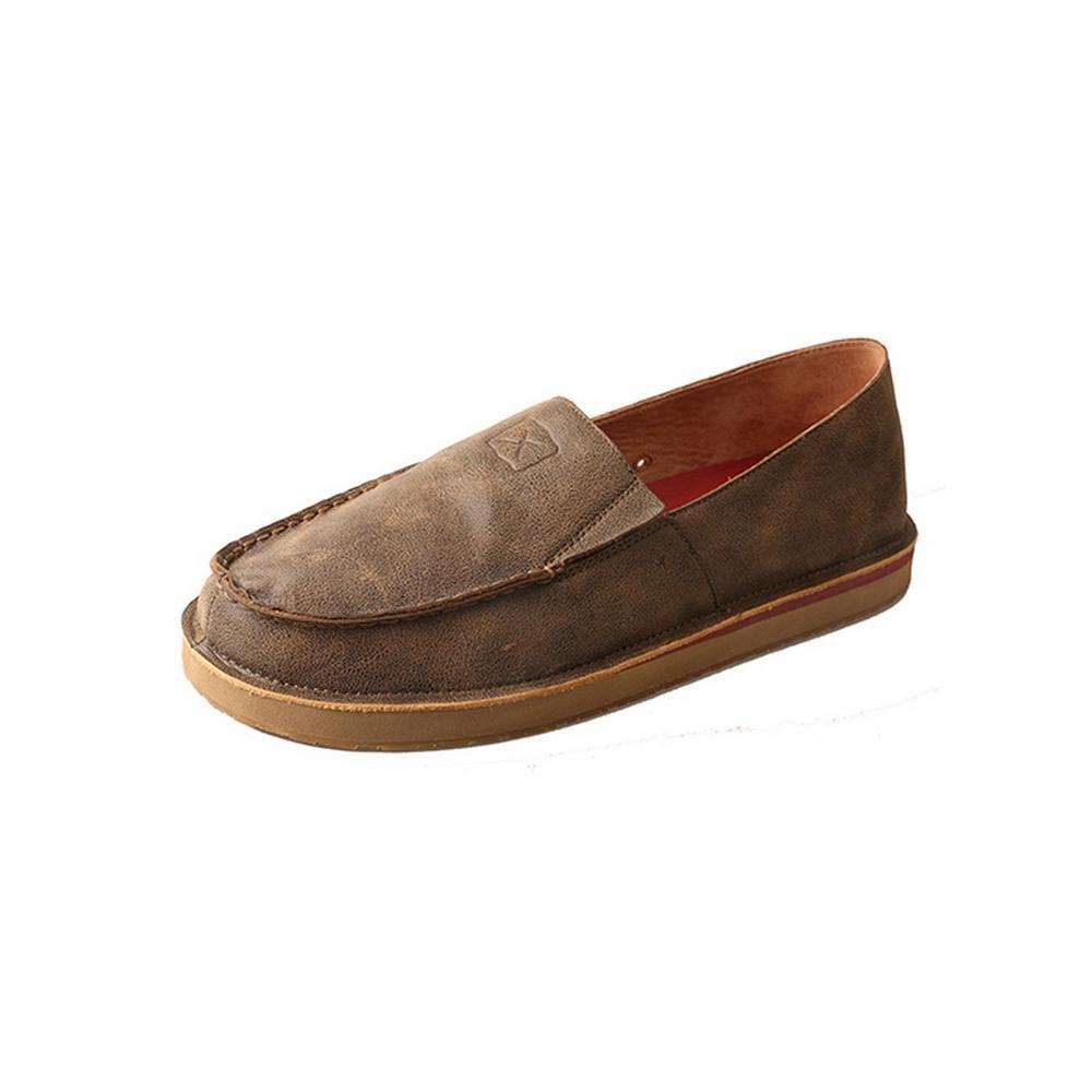 Mens Loafer Slip On Leather Bomber