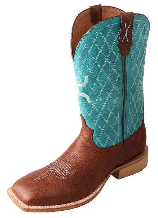 Men's Hooey Boot – Cognac/Turquoise