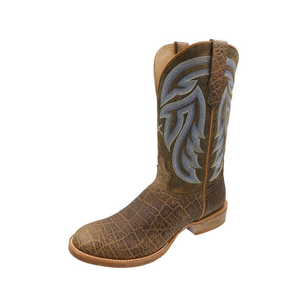 Men's Rancher Cowboy Boot Saddle Elephant Print