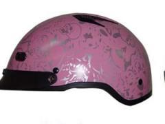 Helmets Inc. Vented Pink Boneyard Half Helmet