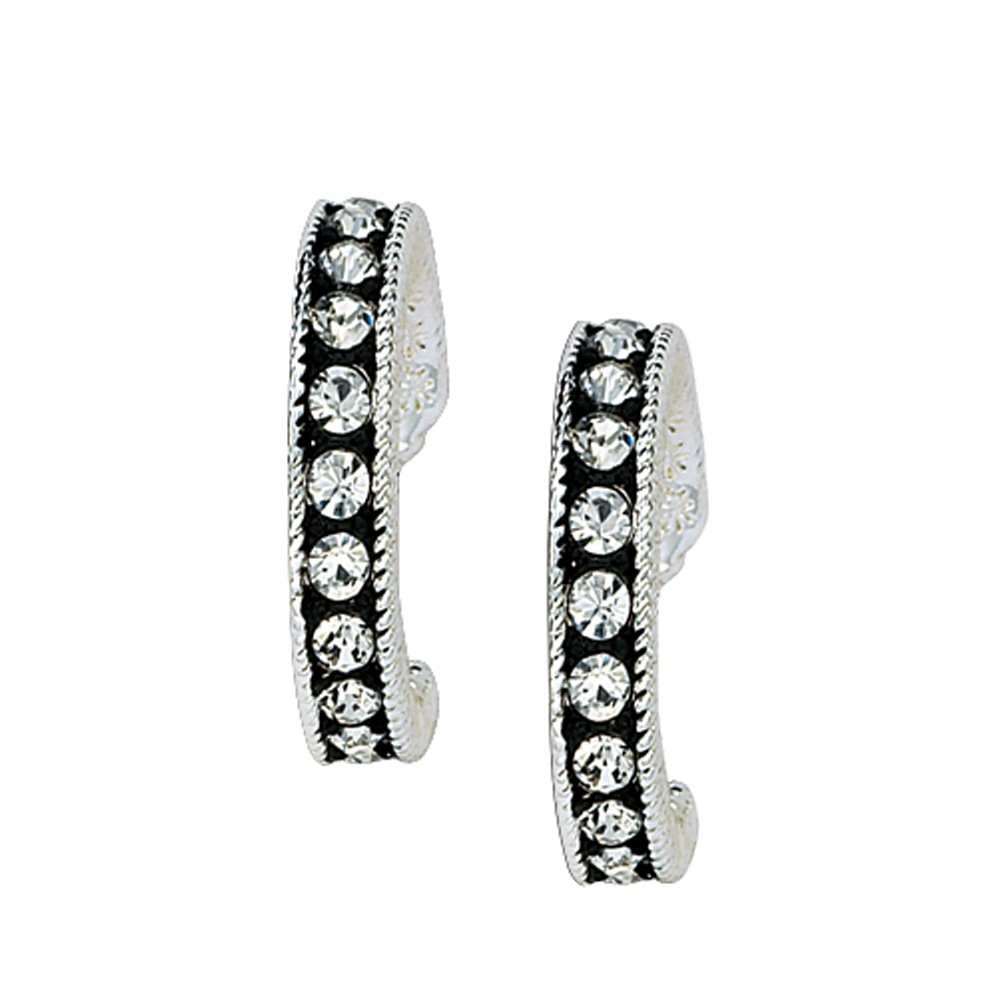 Crystal Shine Cuff Earrings (ER1132)