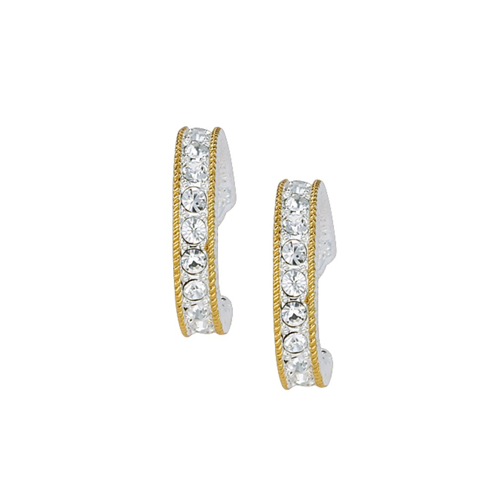 Crystal Shine in Gold Cuff Earrings (ER1133)