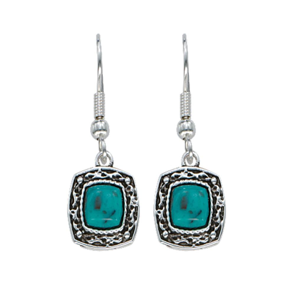 Blue Earth Turquoise Drop Earrings (ER1263)