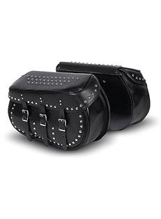 Leather Bolt-On Saddlebag w/Studs