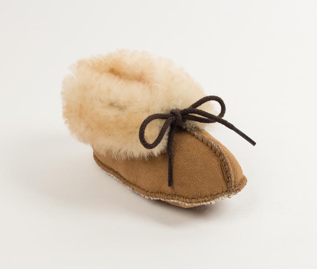 Infant Golden Tan Genuine Sheepskin Bootie