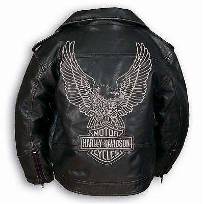 Kids Harley Davidson Classic Biker Jacket w/Eagle