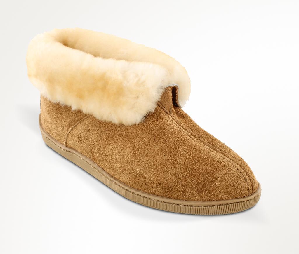 Men's Sheepskin  Golden Tan Ankle Boot Slipper