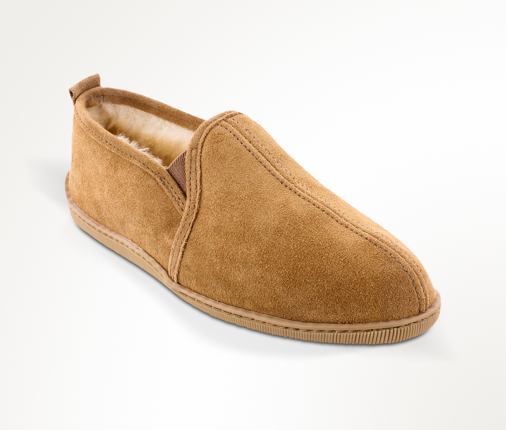 Men's Twin Gore Sheepskin Golden Tan Slipper