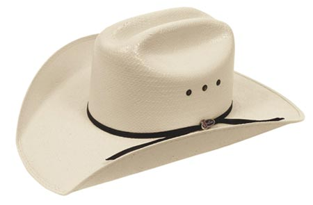 Justin 10X Ranch Hand straw western hat Outback Leather e485fa6c3c17