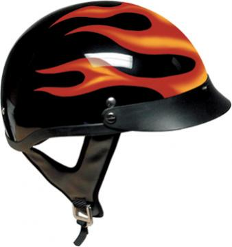 Red Flame Shorty Helmet