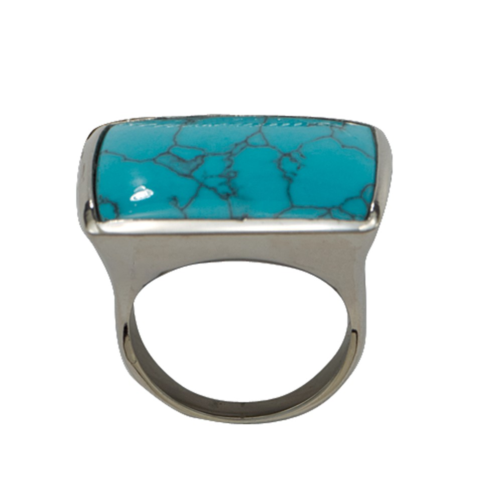 Blue Earth Turquoise Silver Ring (RG34TQ)