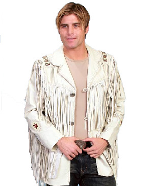 Scully Cream Leather Jacket