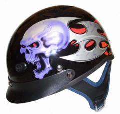 Vented Skull Half Helmet