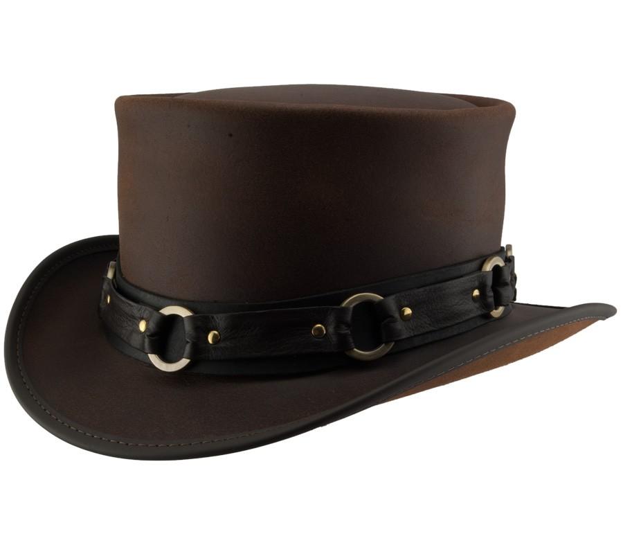 50e5267585edda El Dorado Leather Hat with SR2 Band