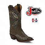 Womens Justin Bent Rail Boots DISTRESSED CHOCOLATE PUMA BRL106