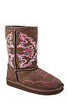 Toddler's Roper Brown Faux Shearling Boot