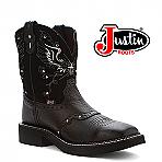Women's Justin Gypsy Boots BLACK DEERCOW L9977