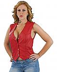 Shaf Red Leather Vest