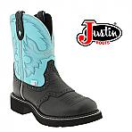 Women's Justin Gypsy Black Deercow Cowboy Boot L9905