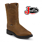 Mens Justin Work Boots Outback Leather